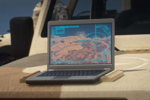 Satellite Missile Laptop Screen