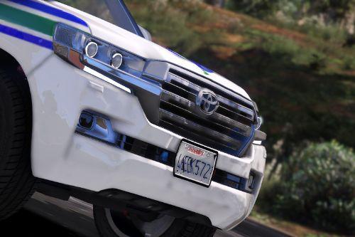 Saudi Security Roads Toyota Land Cruiser 2018