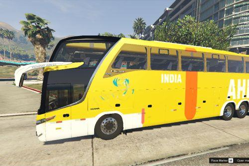 scania bus with indian skin