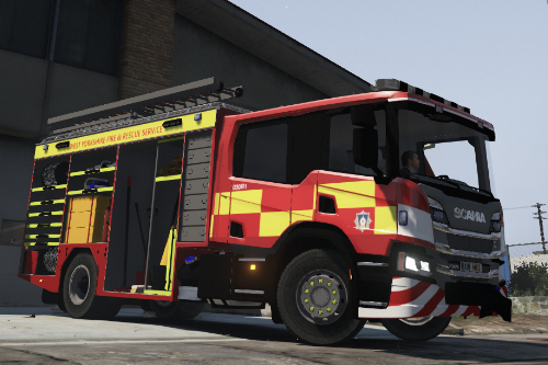 Scania fire engine west yorkshire 2018 skin