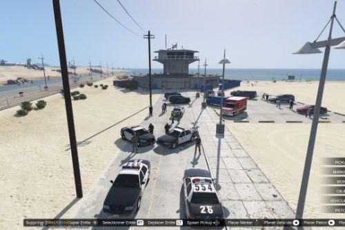 Beach Crime Scene
