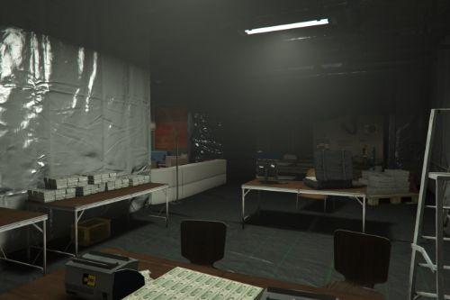 Secret Drug Bunker with modern Boss Lounge