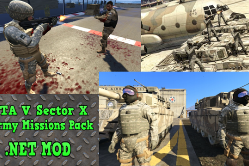 Sector X Army Missions Pack 1 - SKULLHOUND Storyline - 9 Missions [.NET]
