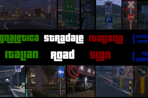 Segnaletica Stradale Italiana - Italian Road Sign [Full Package] [Pacchetto Completo]