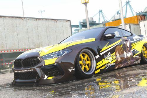 Semiramis BMW M8 Mansaug Itasha Paintjob