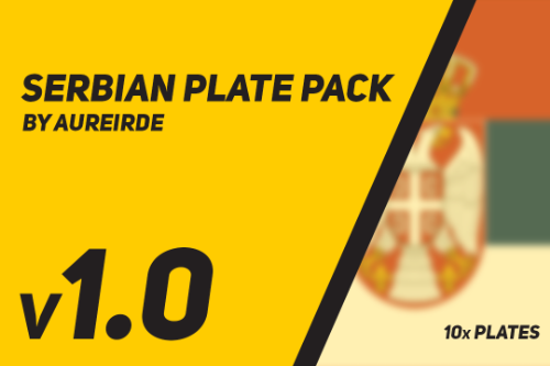 Serbian Plate Pack