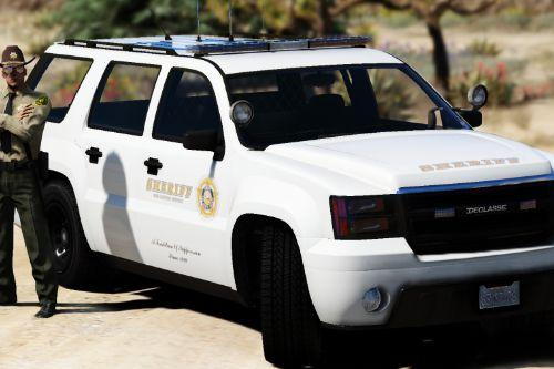 Sheriff Declasse Alamo | LSSD | All White Livery | Addon / Replacement Methods Included