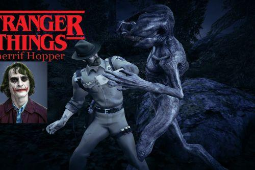 Sheriff Hopper Stranger Things- Fortnite. (Addon-Peds).