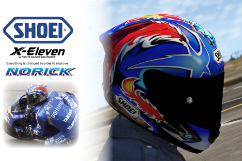 SHOEI X-11 Helmet - Norick (Blue)