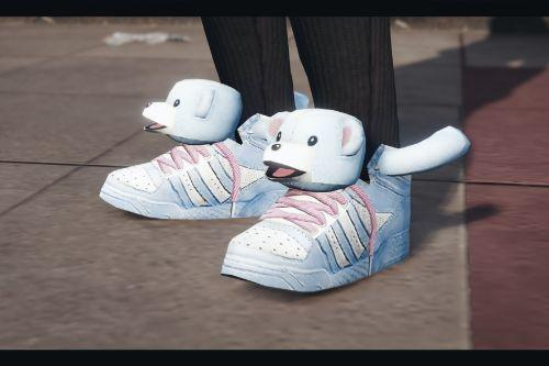 Shoes with dog's head for MP female