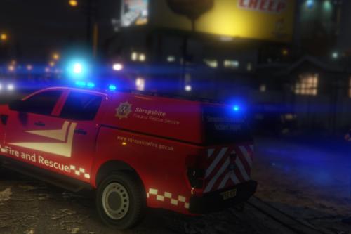 Shropshire Fire & Rescue Service Ford Ranger ISU