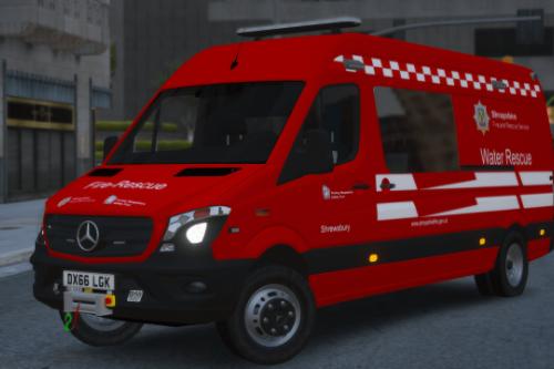 Shropshire Fire & Rescue Service Mercedes-Benz Sprinter WRU