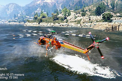 Sikorsky S-64E Fire Fighting Helicopter [Add-On / Replace]
