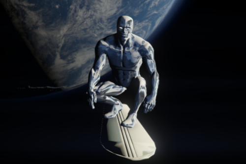 Silver Surfer COC + Board(Chrome effects)