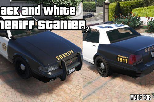 Simple Black and White Sheriff Stanier