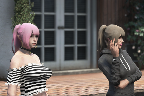 simple pony tail for mp female