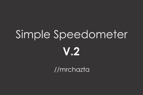 47d7a8 mrchazta   simple speedometer mod