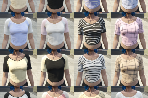 Simple Top Textures for MP Female