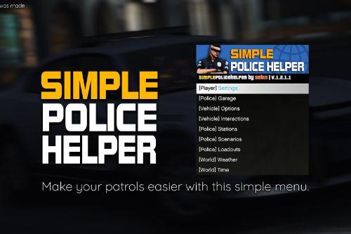 Simple Police Helper Menu