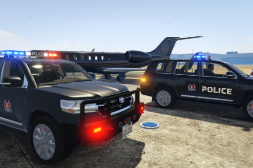 Singapore Police Force Marked Toyota Land Cruiser