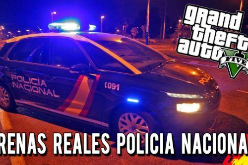 Sirenas Cuerpo Nacional de Policia (Spanish National Police Corps Sirens) (España)
