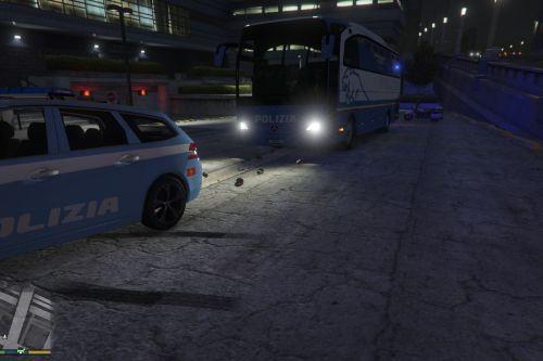 Skin Bus Italian State Police