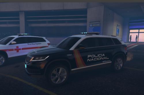 Skoda Kodiaq Policia Nacional/CNP y Cruz Roja Española.
