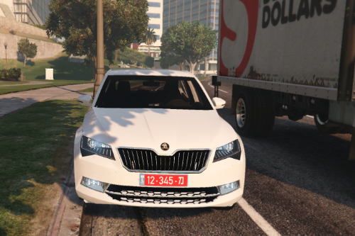 Skoda Superb 2015 \ Israel Police Commander Car Unmarked [Replace]