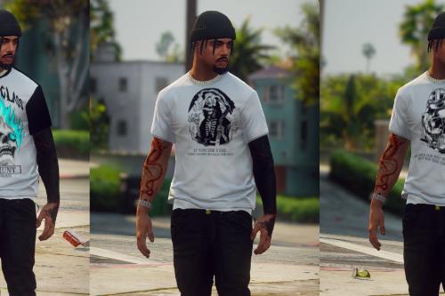 Skull T-Shirt Pack For MP Male