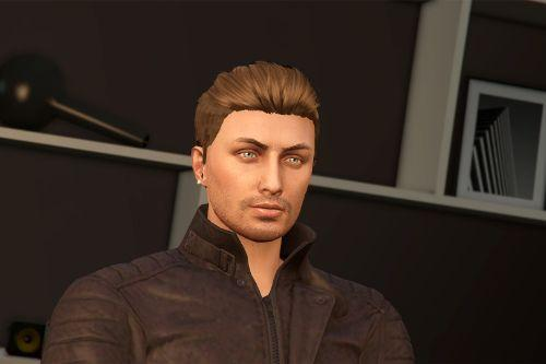 Slicked Back Hair for MP Male