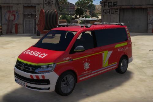 Slovenian Fire Department Volkswagen transporter 6 GVM-1[SKIN]