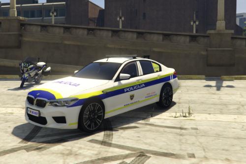 Slovenian Police BMW M5 (skin)