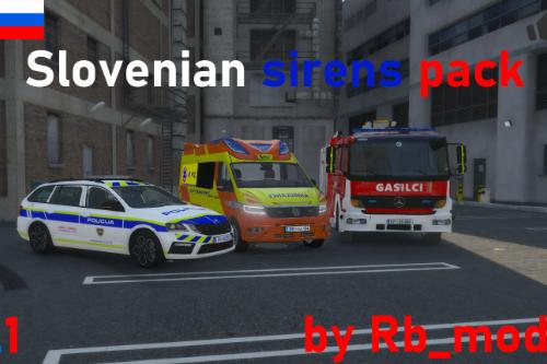 Slovenian sirens pack