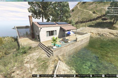 Small lakeside villa on Mount GORDO [Menyoo]
