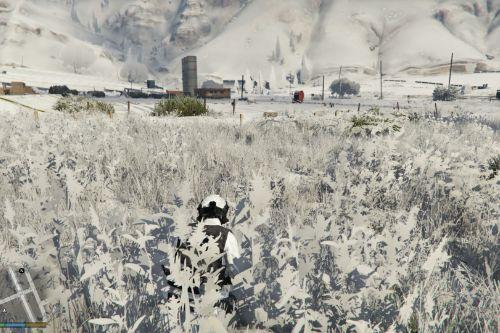Snow digital camouflage for SWAT
