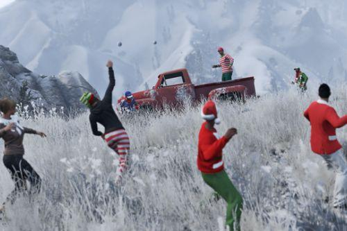 Snowballs in Singleplayer
