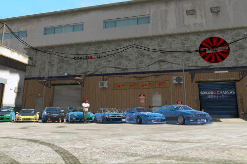 SokudoChasers Garage exterior