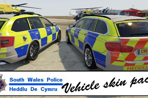 Welsh, South Wales Police Vehicle Texture Pack (for Ultimate British Police Pack 1.3)