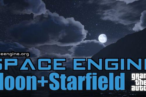 SpaceEngine: Moon & Starfield Skydome Replacement