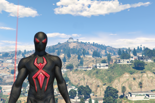 Spiderman Dark Suit [Add-On Ped]