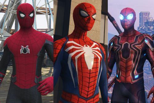 Spider-Man Pack (Far From Home, Infinity War, PS4 Advanced suit & Stark suit)