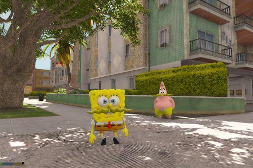 Spongebob Mustache [Add-On Ped]