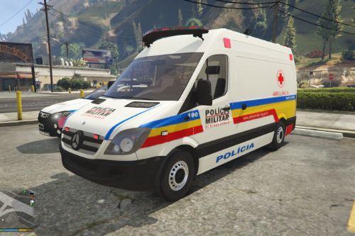 Sprinter Polícia Militar Minas Gerais Ambulância Brasil | Brazilian Mod PMMG