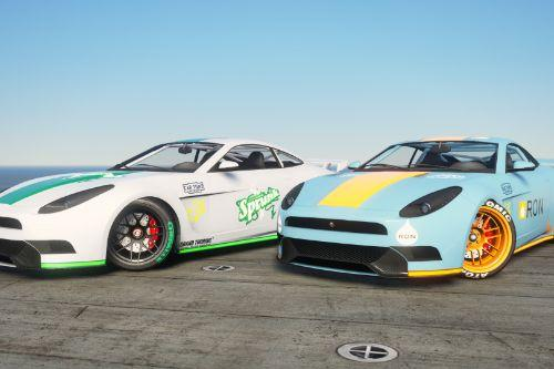 Sprunk and Ron Racing liveries for the Ocelot Lynx