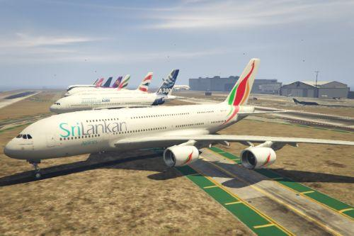 Sri Lankan Airlines livery for A380-800