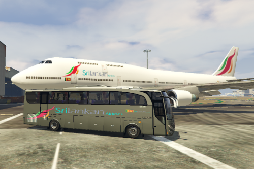 SriLankan Airlines vehicle Texture pack