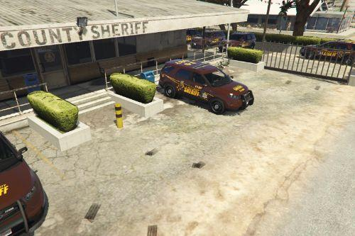 Sandy Shores Sheriff Parking - Mapping Exterior [YMAP]