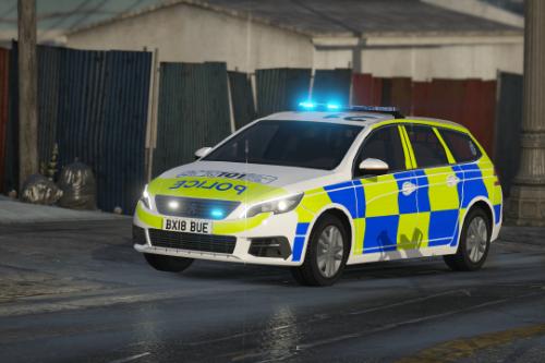 Staffordshire Police Peugeot 308 Estate [Skin]