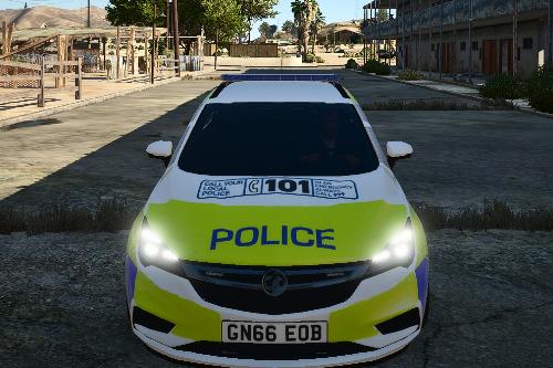 Staffordshire Police Vauxhall Astra MK7 Skin