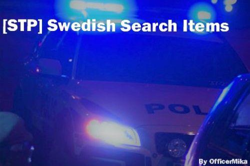 [STP] Swedish patdown and vehicle search items.